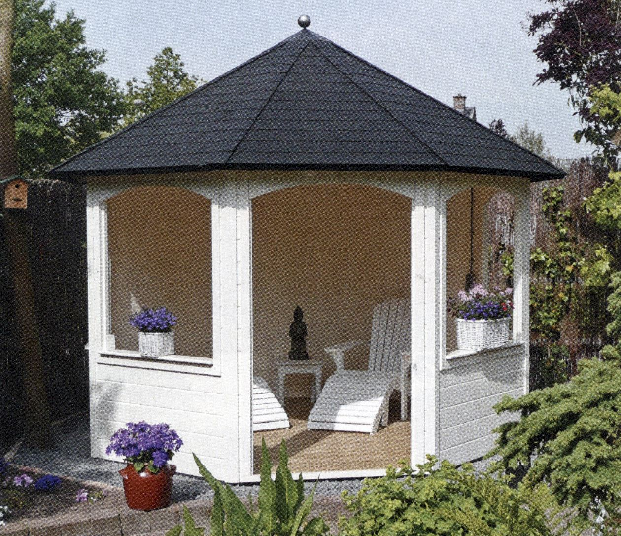 Blokwood het resultaat tuinhuis cottage terrasoverkapping carport prieel garage schuur - Kleine prieel ...